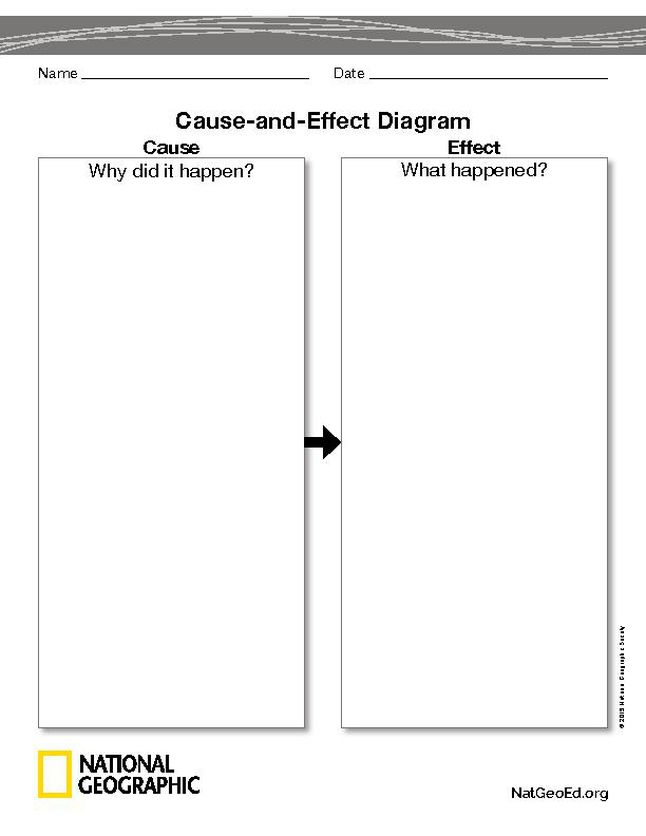 Cause And Effect Diagram National Geographic Society