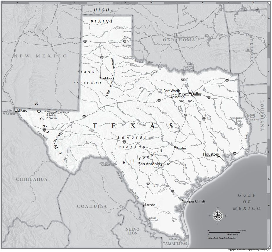 Texas Tabletop Map | National Geographic Society
