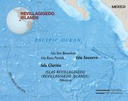 Map of the Revillagigedo Islands
