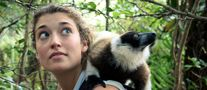 Picture of Alizé Carrère and lemur