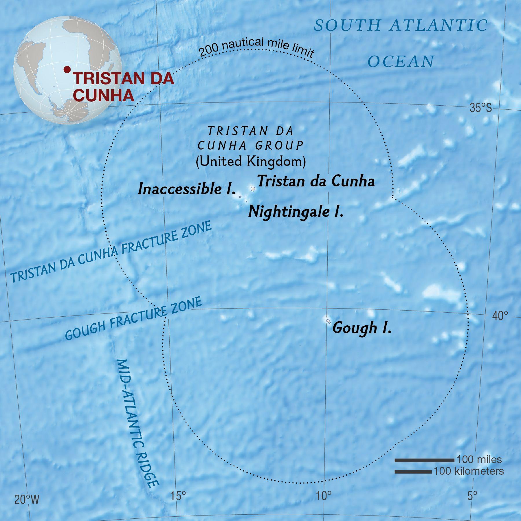 Tristan Da Cunha National Geographic Society - Tristan da cunha map