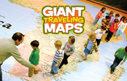 Giant Maps National Geographic Society - Giant us map lesson