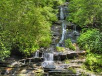 Tom Branch Falls in the Deep Creek Area of the Great Smoky Mountains National Park, North Carolina