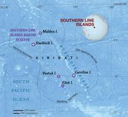 Map of the Southern Line Islands