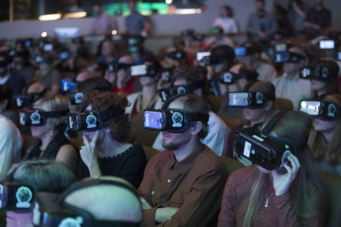 Virtual Reality in Grosvenor Auditorium