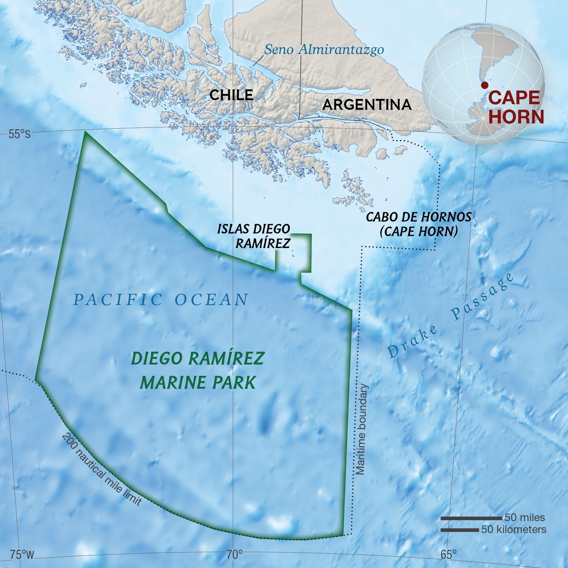 Capo Horn Cartina.Cape Horn National Geographic Society