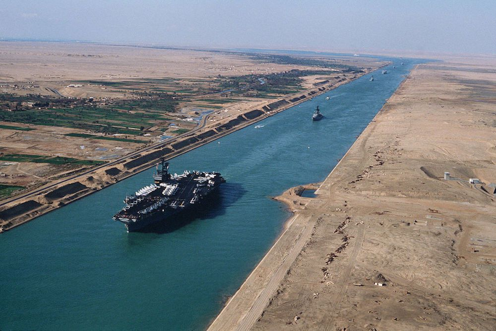 suez canal opens national geographic society