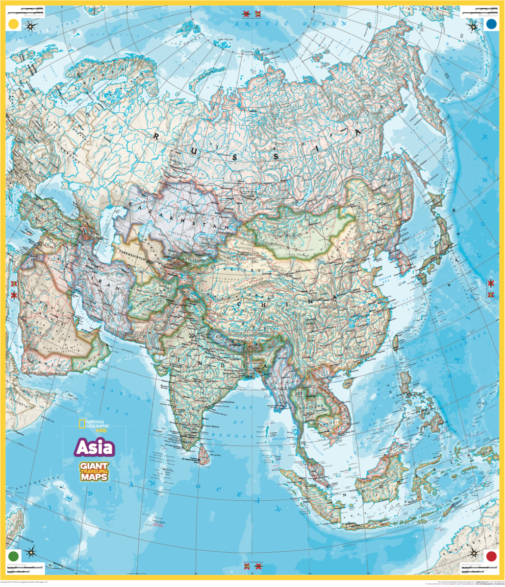Giant Traveling Maps Asia National Geographic Society – National Geographic Travel Map