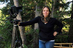 Erika Larsen poses with camera