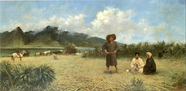 Japanese Laborers on Spreckelsville Plantation, Maui