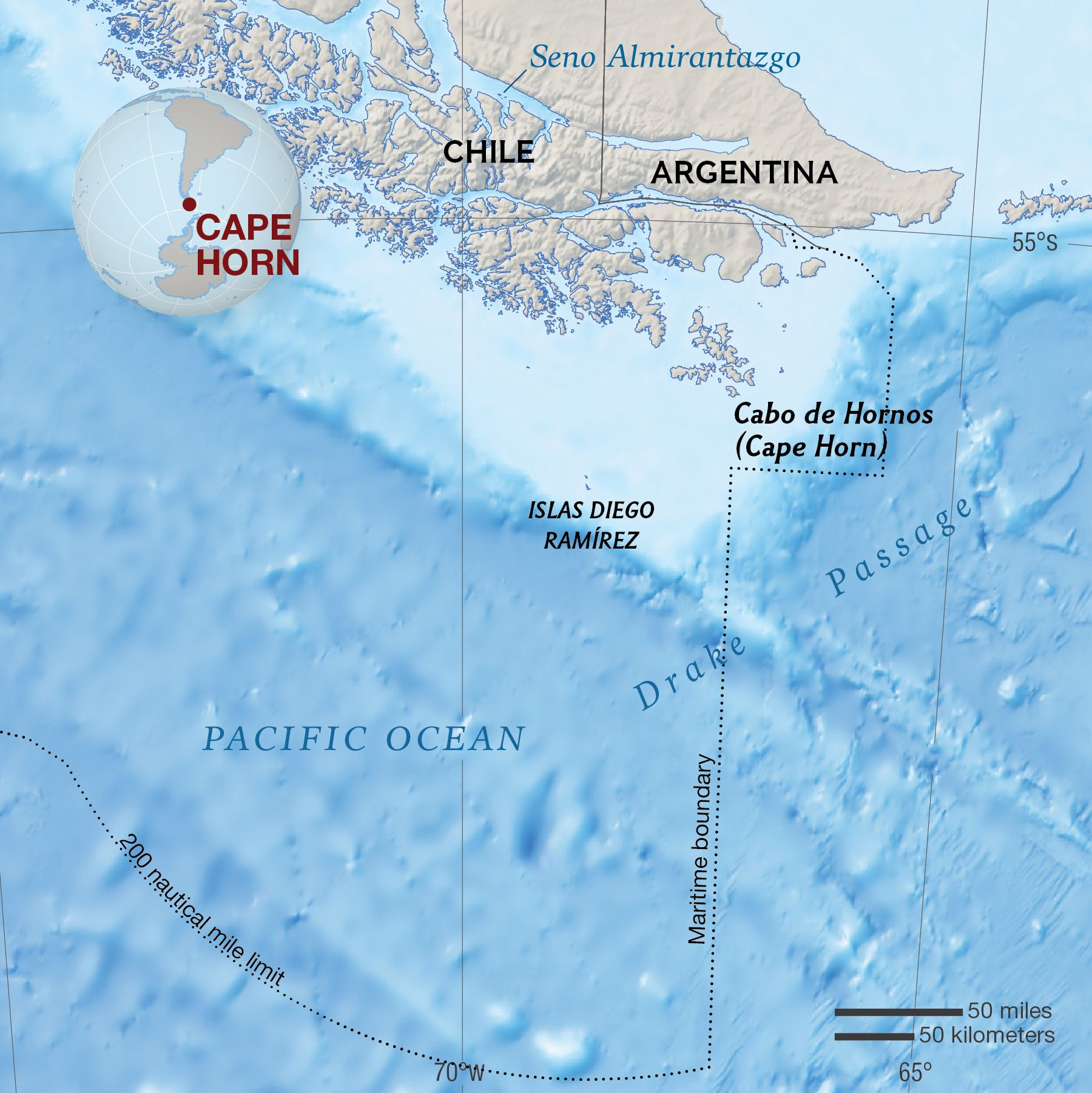 Cape Horn National Geographic Society - Argentina cape horn map