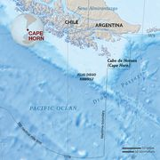 Map of Cape Horn