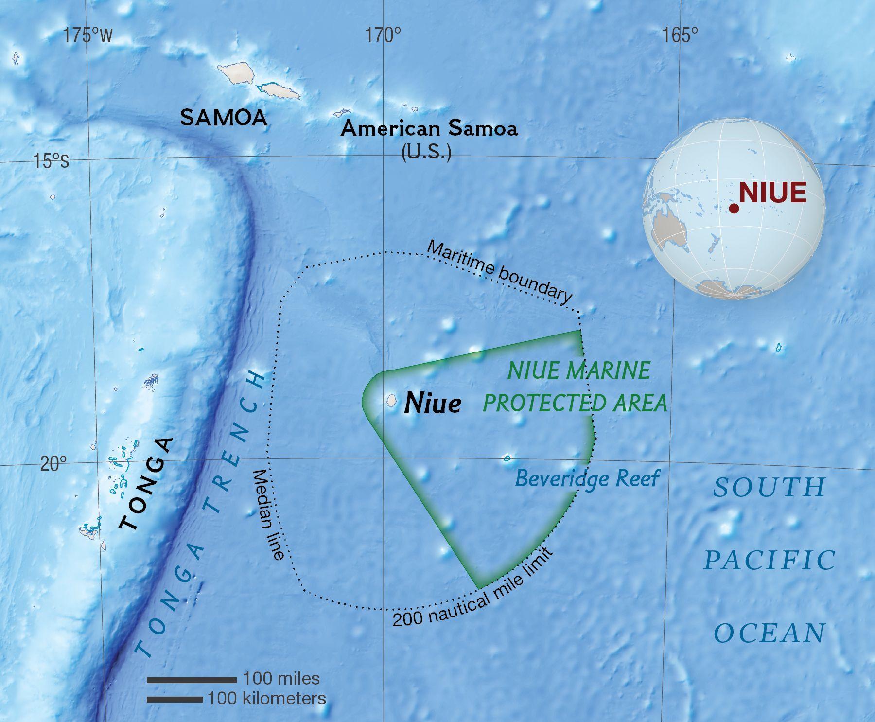 Niue National Geographic Society - Niue map