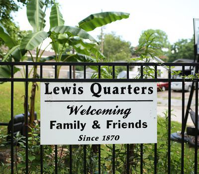 <p>This sign marks the location of the town Cudjo Lewis helped establish.</p>