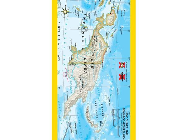 Activities national geographic society giant maps papua new guinea inset sciox Images