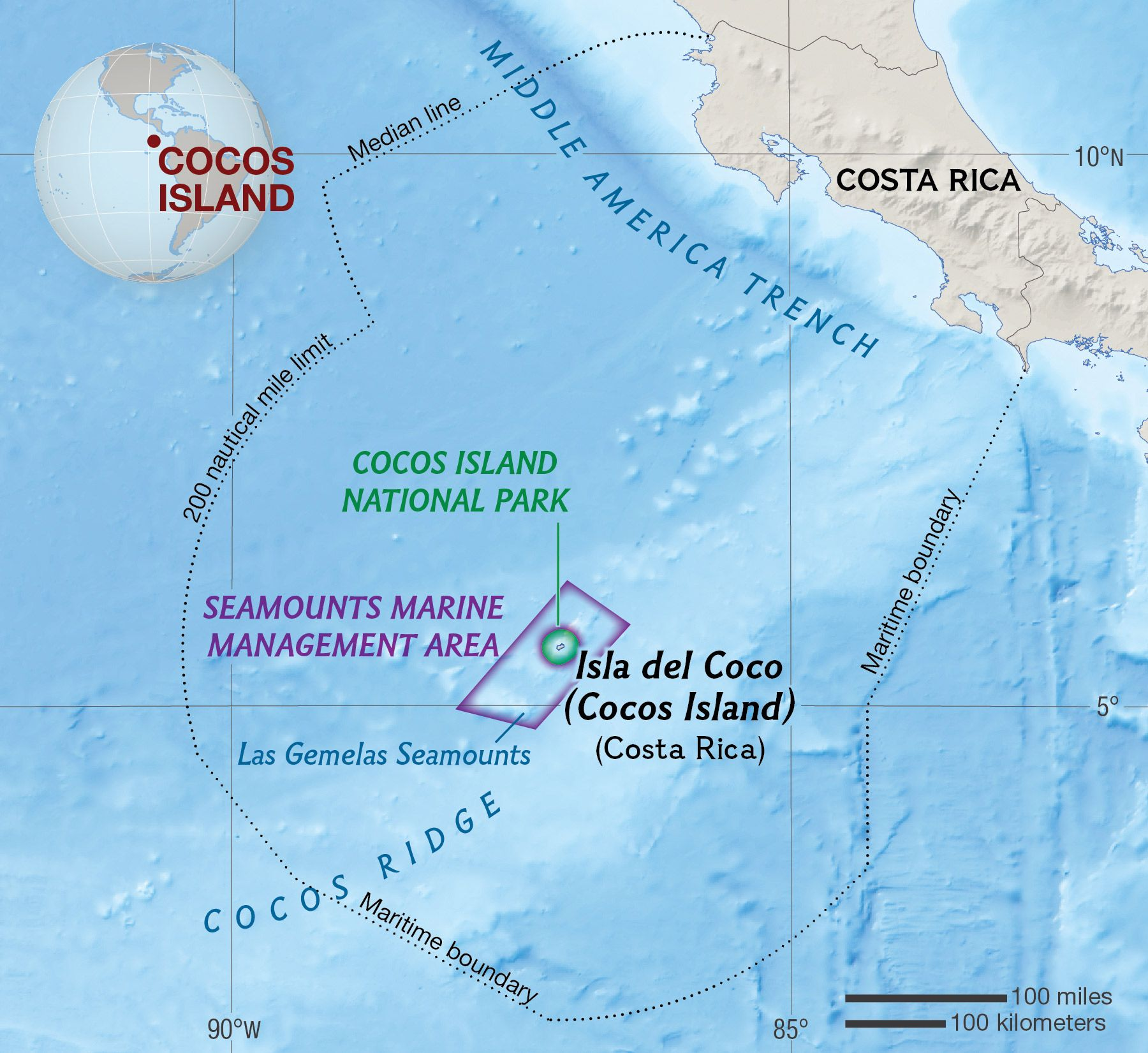 Map Of Cocos Islands Australia