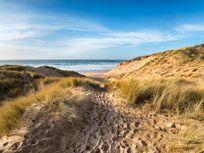 Photo of a sandy beach