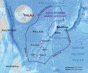 Map of Palau