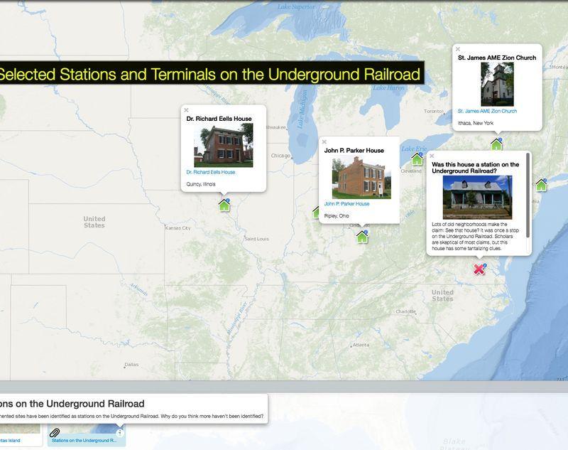 Underground Railroad New York Map.Natgeo Mapmaker Interactive