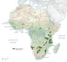Map of National Geographic Lion Priority Areas