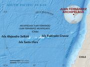 Map of Juan Fernandez Archipelago