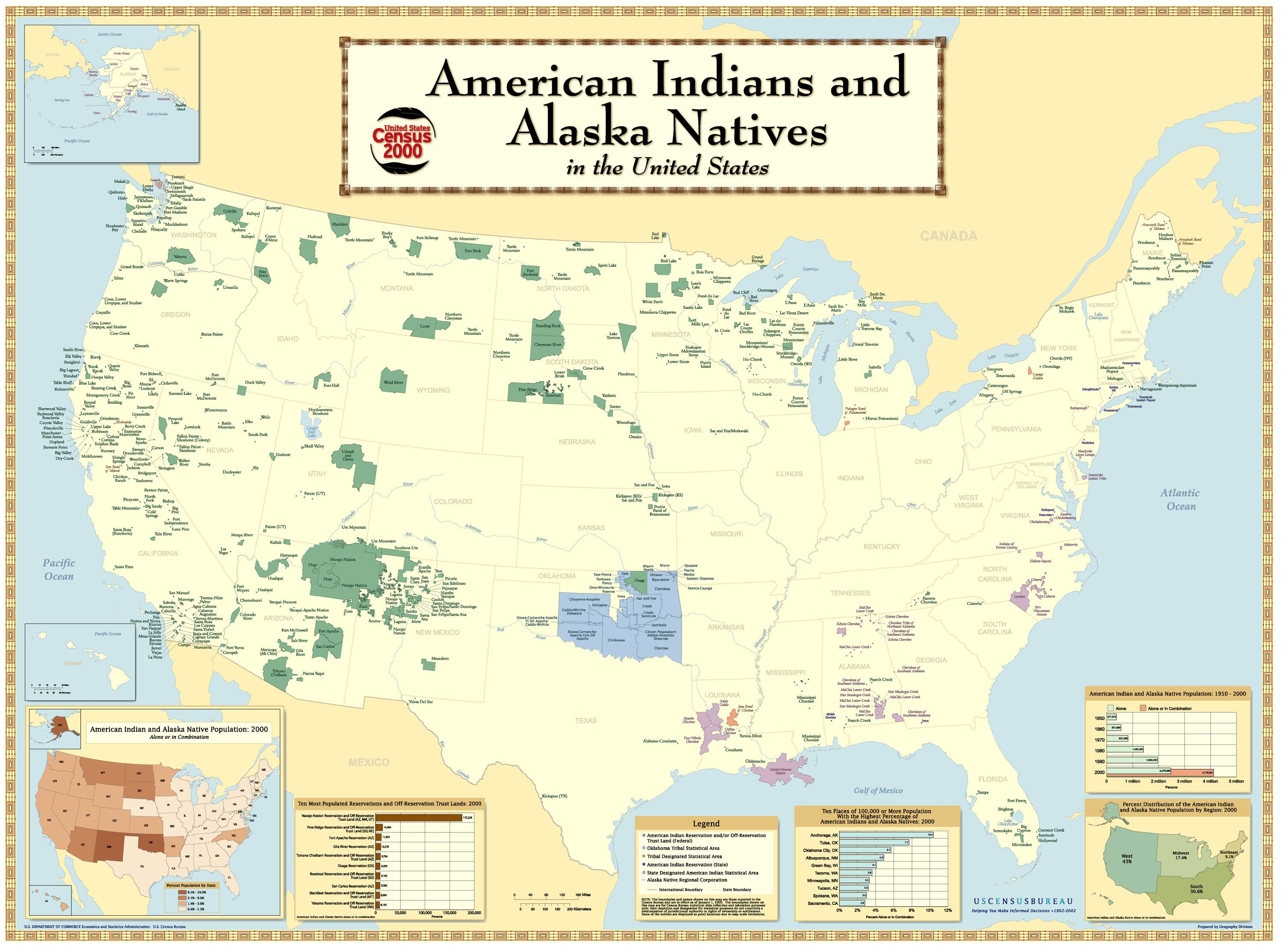 First Indian Reservation National Geographic Society - Map-of-reservations-in-us
