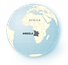 Illustration of globe highlighting Angola