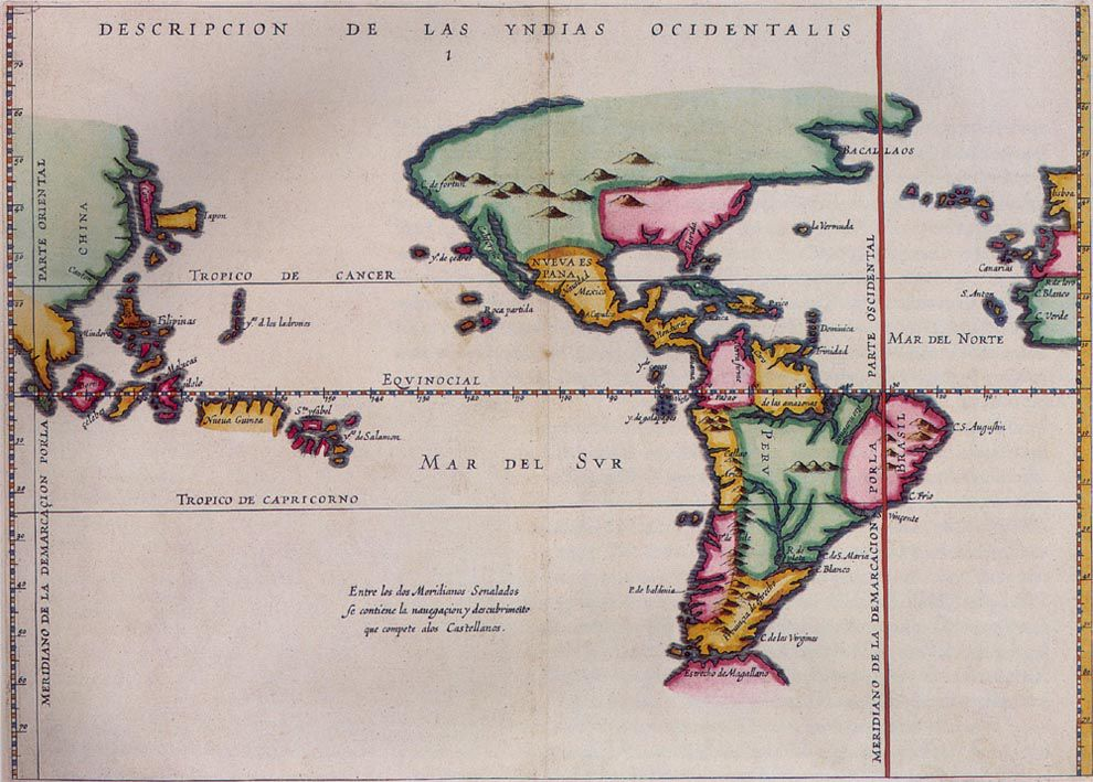 Map Of Spain Over Time.Treaty Of Tordesillas National Geographic Society
