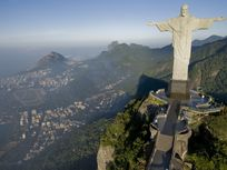 Aerial photo of Christ the Redeemer.
