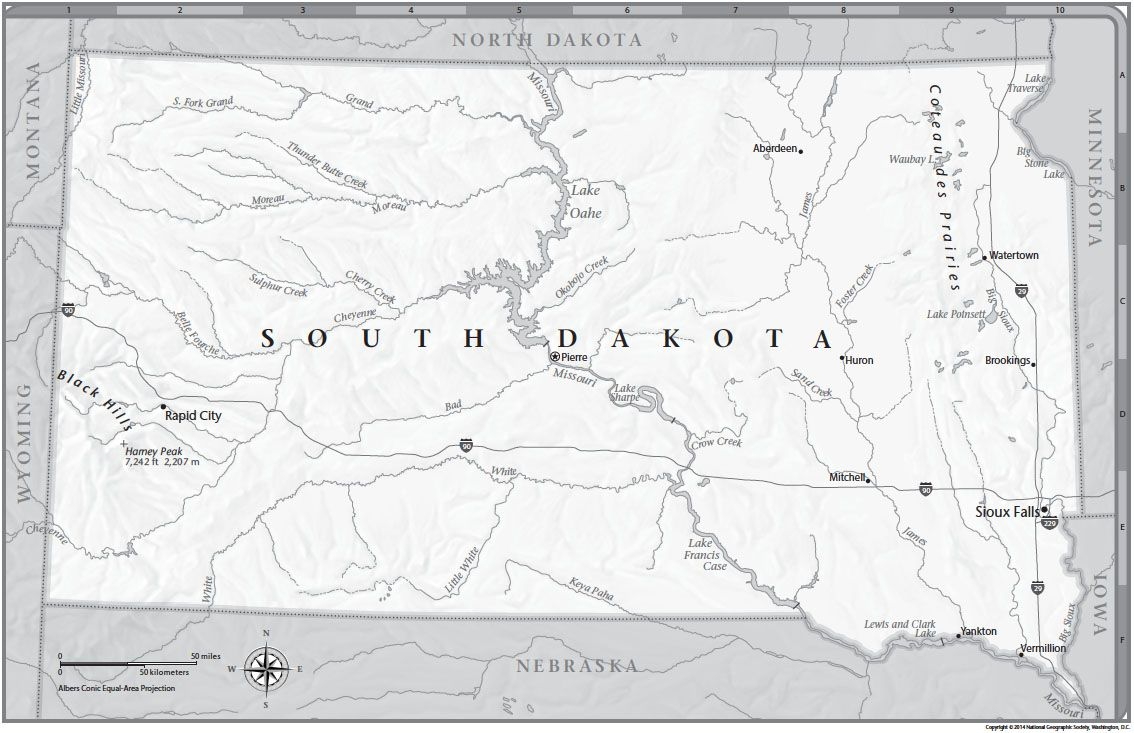 South Dakota Tabletop Map