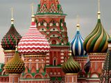 Photo: The colorful onion domes of St. Basil's Cathedral in Moscow, Russia