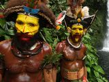 Photo: Huli men of the Highlands region of Papua New Guinea
