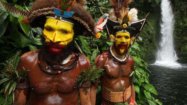 Photo: Huli men of the Highlands region of Papua New Guinea