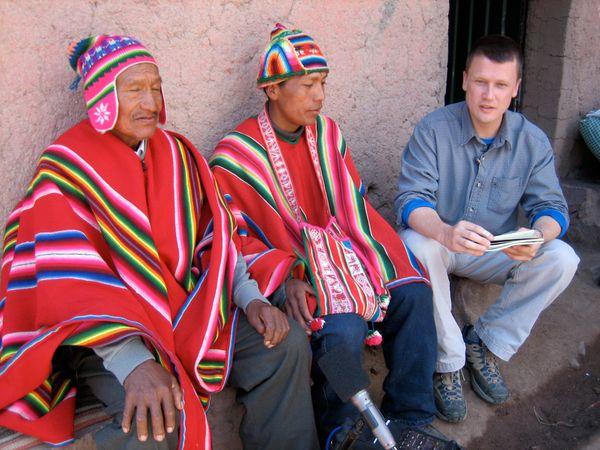 Photo: Kallawaya healers Antonio Condori and Illarion Ramos Condori, Chary, Bolivia