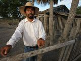 Photo: Kafote (Crispulo Martinez) of the Ybytoso Ishir. Puerto Diana, Paraguay