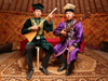 Photo: Viktor Ochayev and Dmitri Sharayev play the dombura