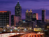 Picture of downtown Atlanta skyline at dusk